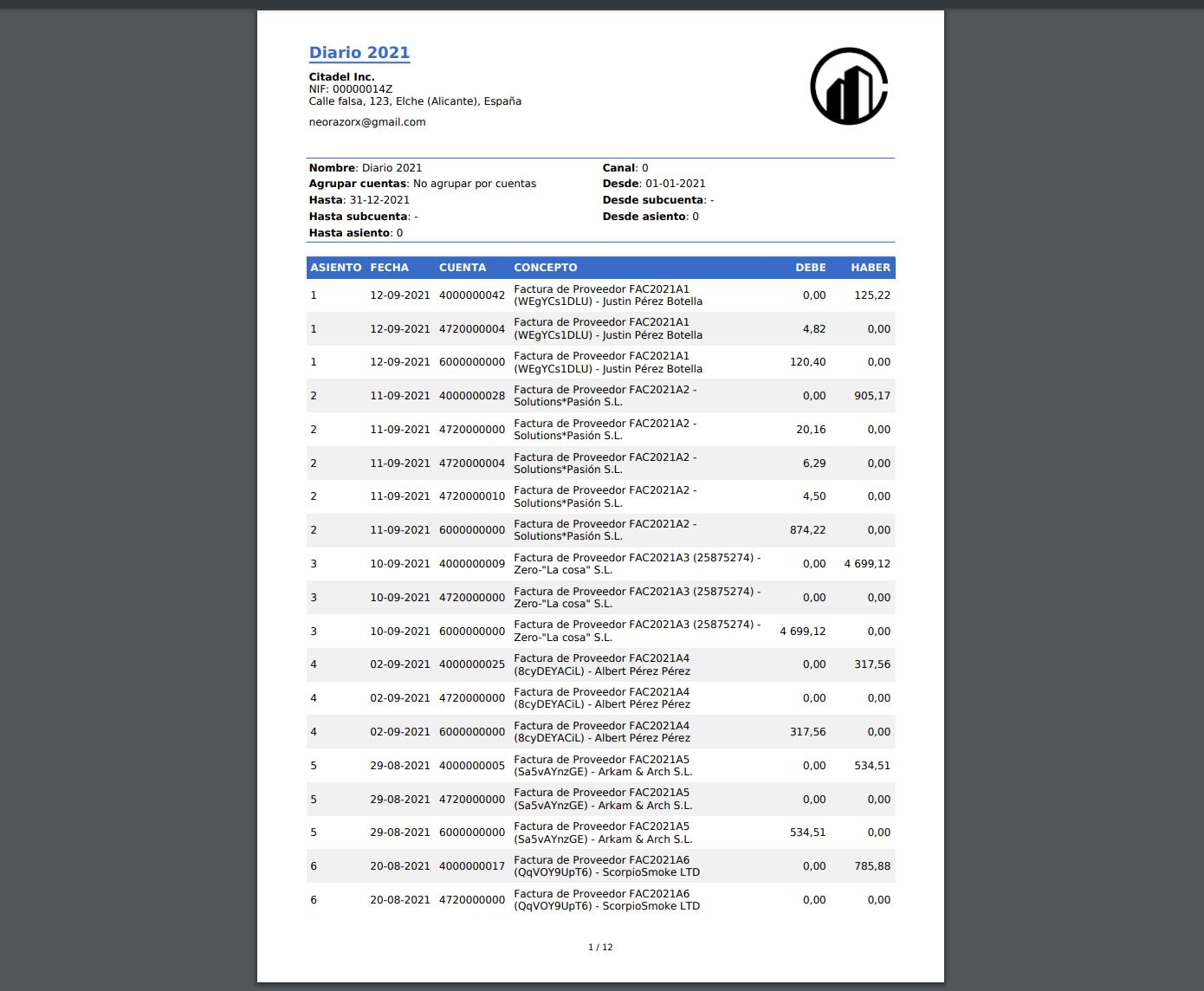 diario contable en pdf